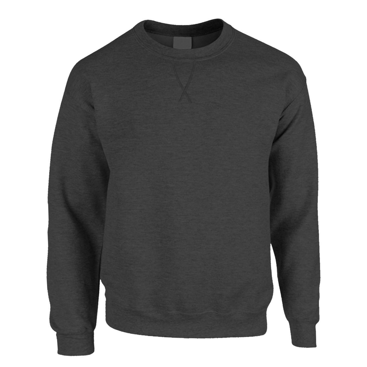 New-Mens-Casual-Long-Sleeve-Classic-Plain-Pullover-Sweatshirt-Jumper-Sweater-Top