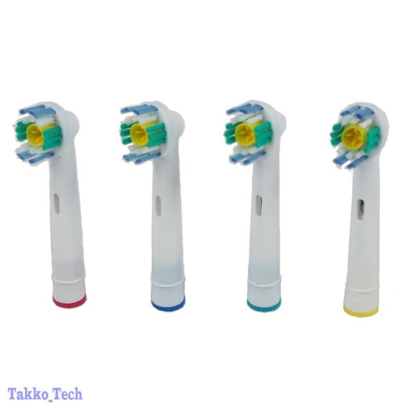 NEW 4 x Electric Tooth brush Heads Replacement for Braun Oral B 3D WHITE ACTION | eBay