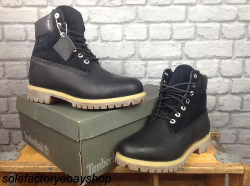 timberland mens uk 9 eu 43 5 black leather suede 6 inch