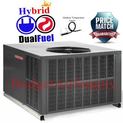 Goodman 4 Ton 14 Seer Dual Fuel Heat Pump 115k Gas Package