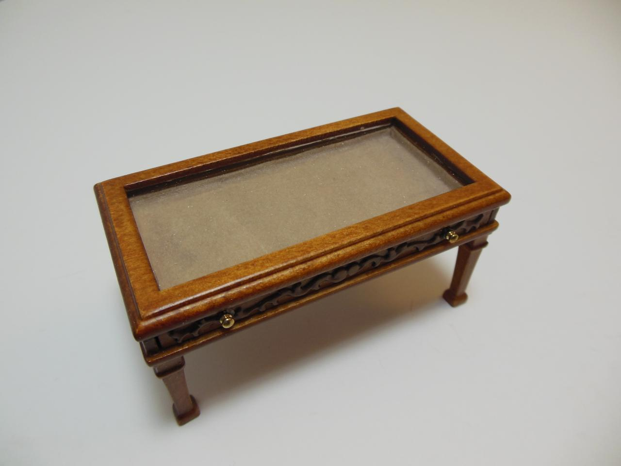 Dollhouse Miniature 12032wn Glass Top Display Coffee Table Images Hosted At