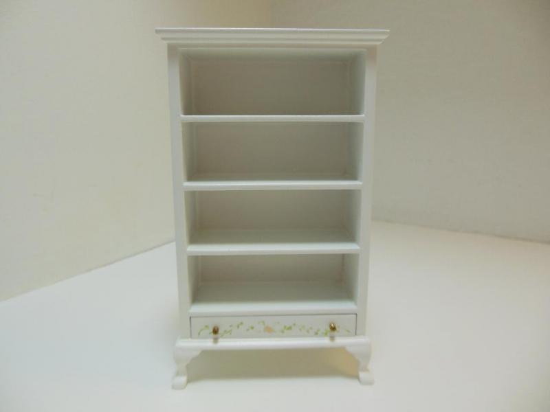 Dollhouse Miniatures Furniture 30062wt Flower Motif Shelf
