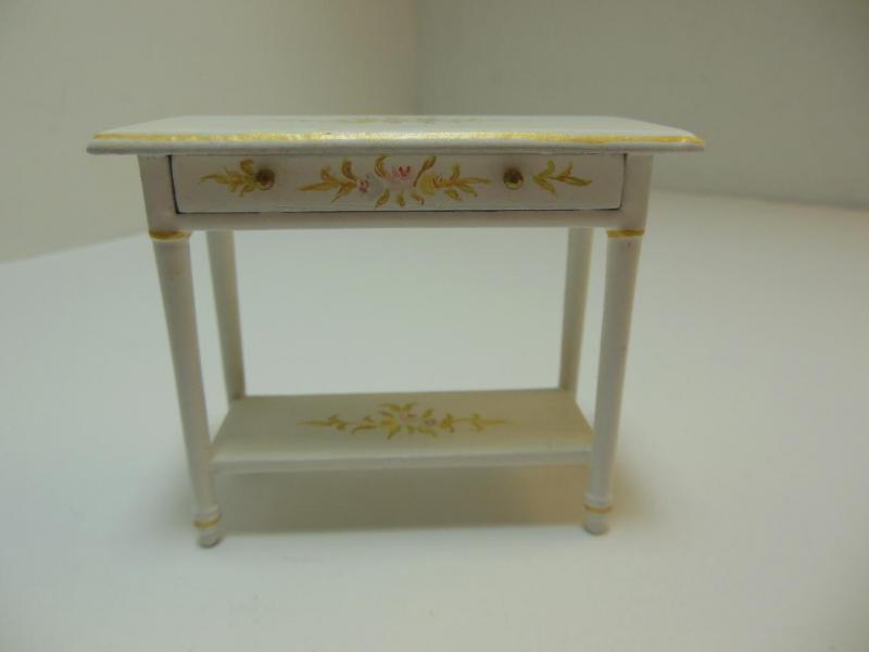 Dollhouse Miniatures Furniture 112 1171wt Flower Motif