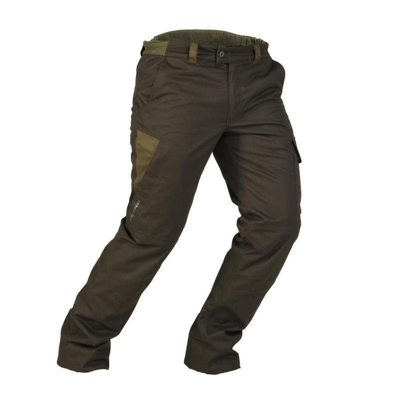 9aa299cb07e9d SOLOGNAC Brown 500 Warm Waterproof Hunting Trousers - Size: Large | eBay