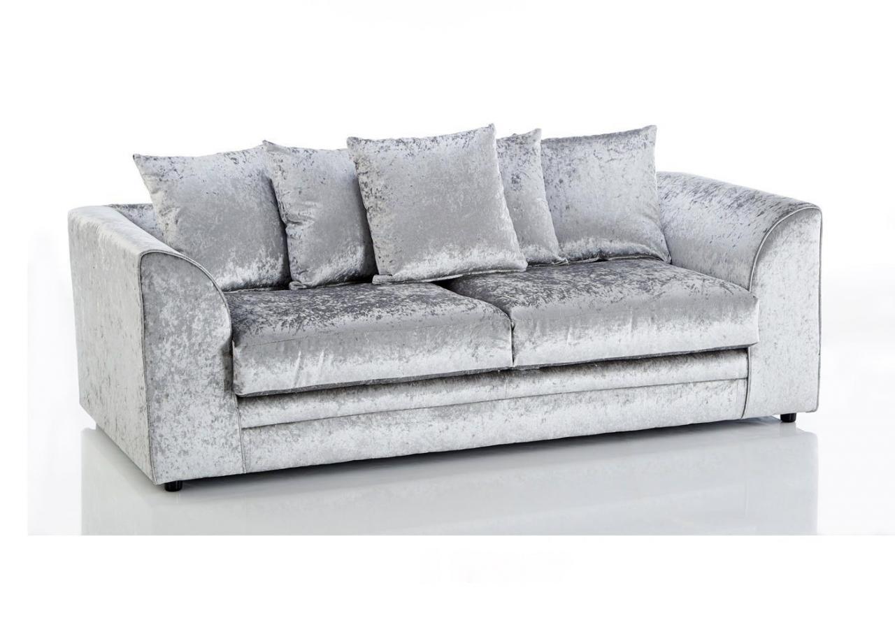 Marilyn Shimmer Glitz Crushed Velvet Corner Sofa 3 And 2