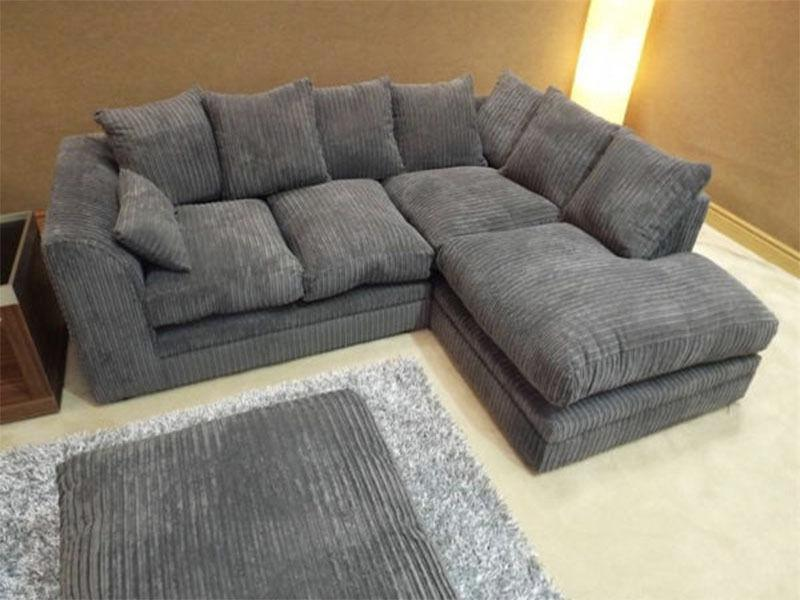 Brand New Jumbo Cord Fabric Corner Sofa Settee Couch Or 3