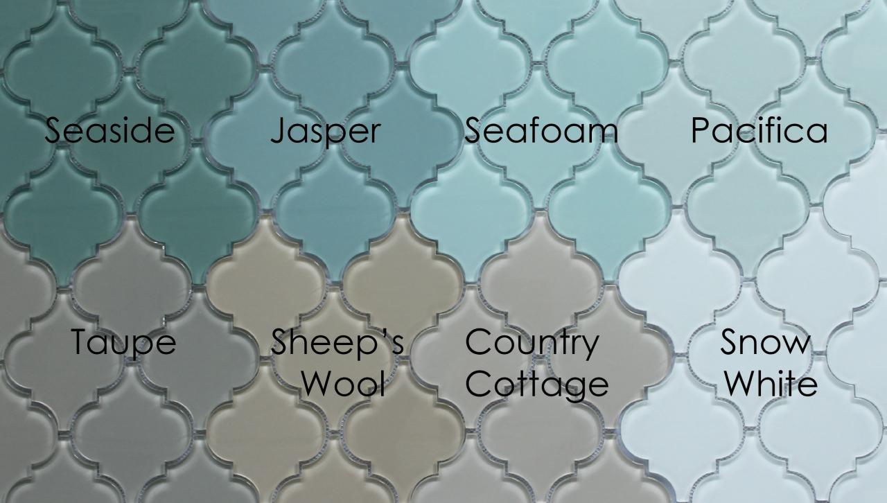 Sheep S Wool Light Beige Arabesque Glass Mosaic Tiles