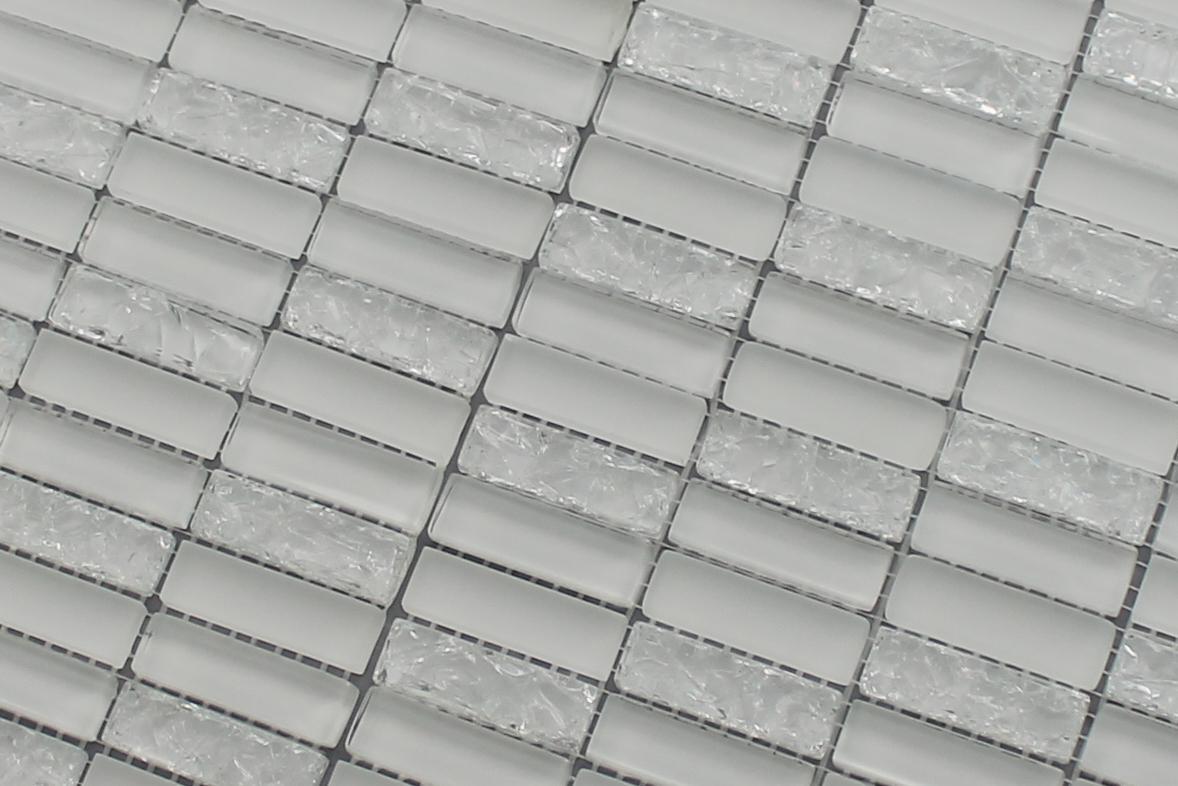 Sparkle Series White Small Subway Mosaic Tiles