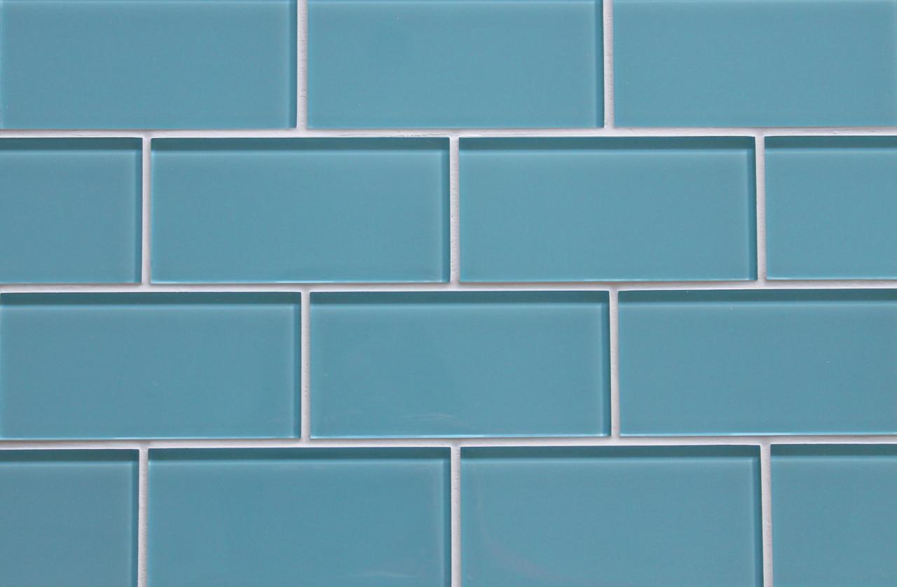 Infinity Blue 3x6 Glass Subway Tiles for Kitchen Backsplash/Bathroom ...