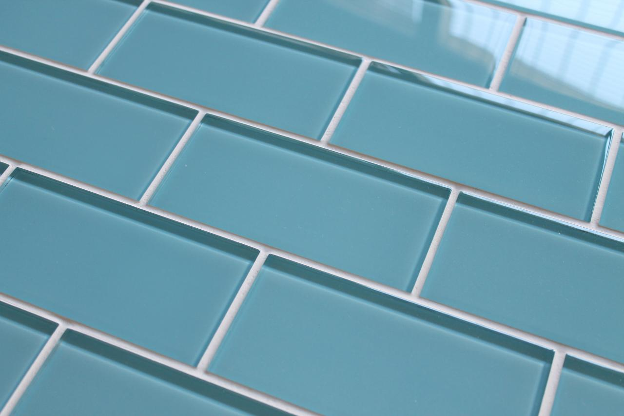 Infinity Blue 3x6 Glass Subway Tiles for Kitchen Backsplash/Bathroom ...