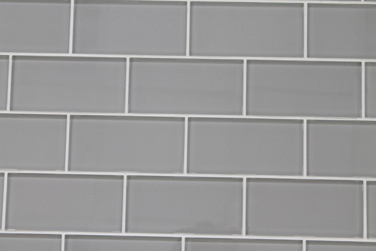 Pearl gray 3x6 glass subway tiles kitchen backsplashbathroom tile cougar dailygadgetfo Image collections