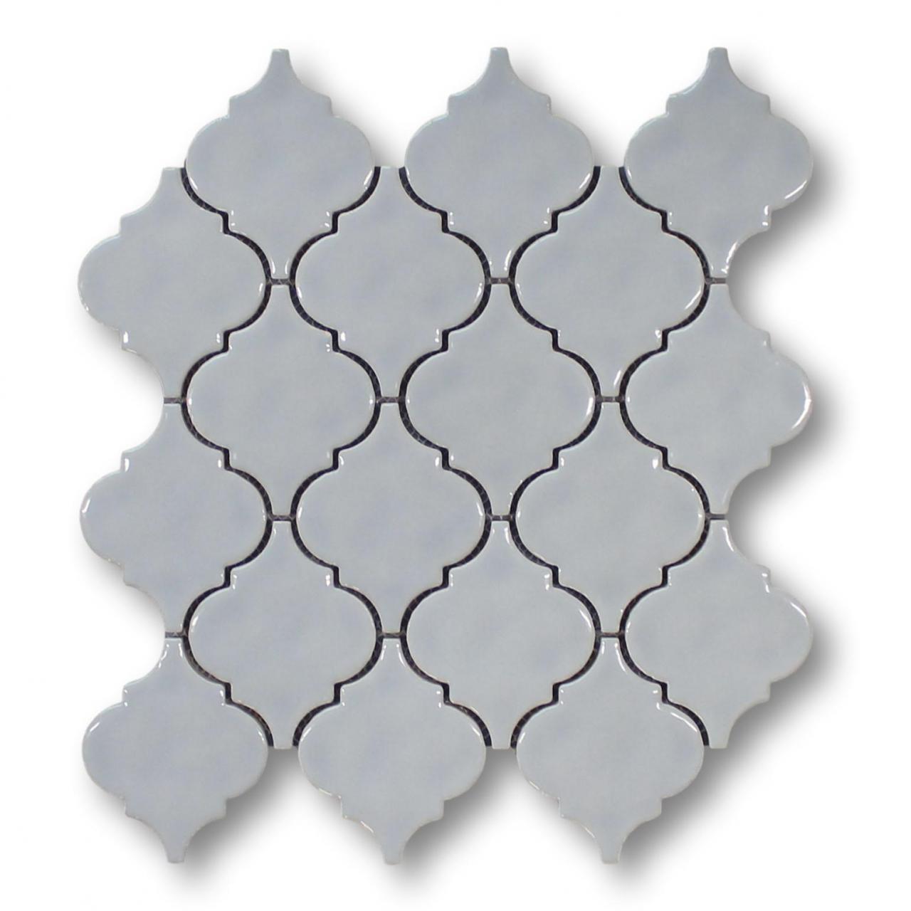 - Cloud Ceramic Arabesque Lantern Mosaic Tiles - Kitchen Backsplash