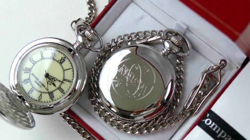 NASA Silver Plated Pocket Watch Space Mission Agency ...