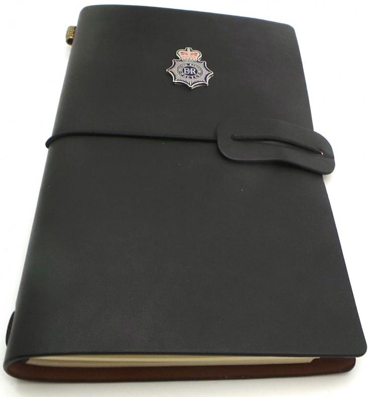 UK Police Leather Journal Notebook Crest Badge any region force county Met Gift
