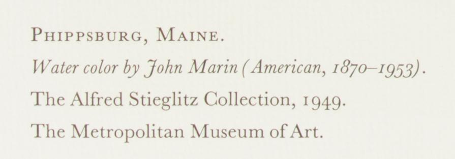 "Phippsburg Maine Church Fields16x12/"" 1950s Print by John Marin 1870-1953"