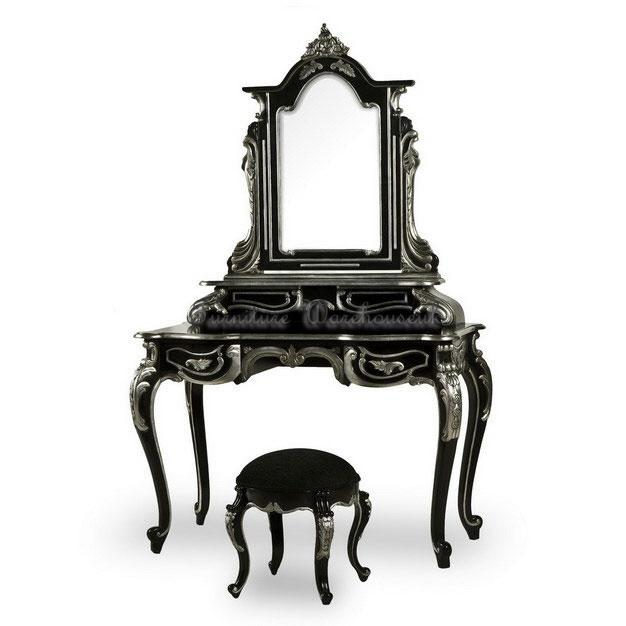 Top Details about French Style Dressing Table Mirror and Stool in Black!! 626 x 626 · 34 kB · jpeg