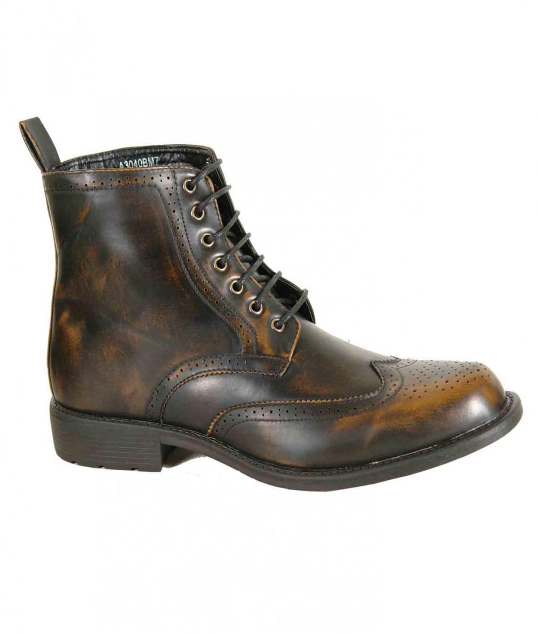 mens brown brogue boots