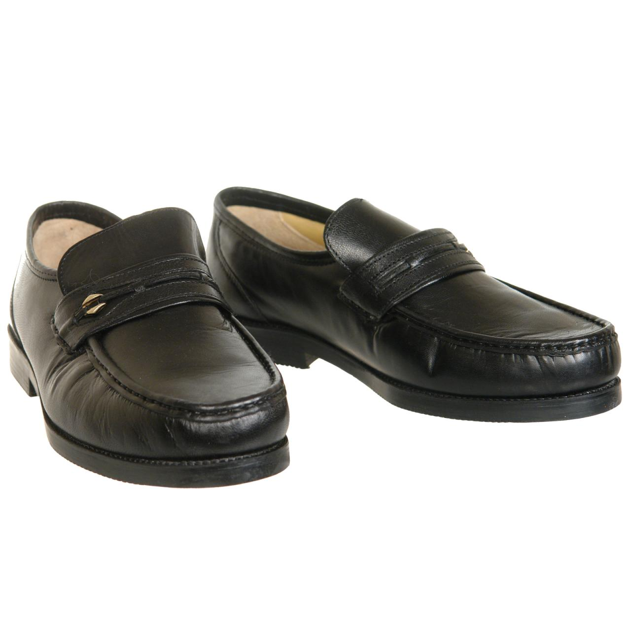 Mens Leather Slip On Moccasin Shoes Wide Fitting Size 6 7