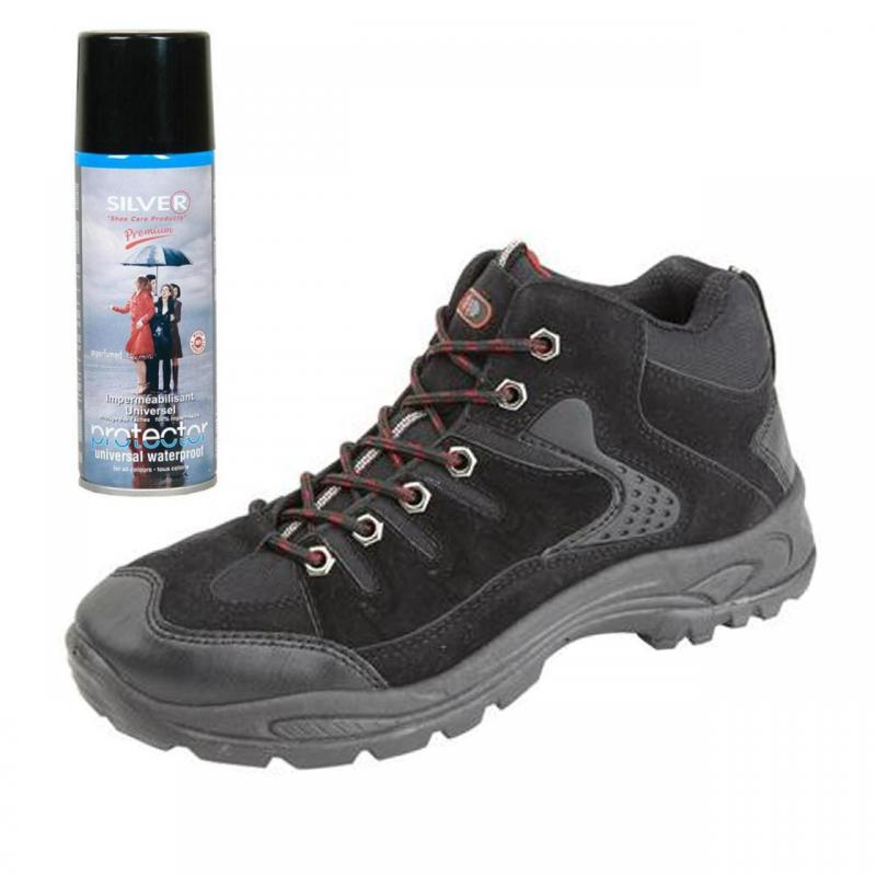 mens new hiking walking boots with waterproof spray size 6