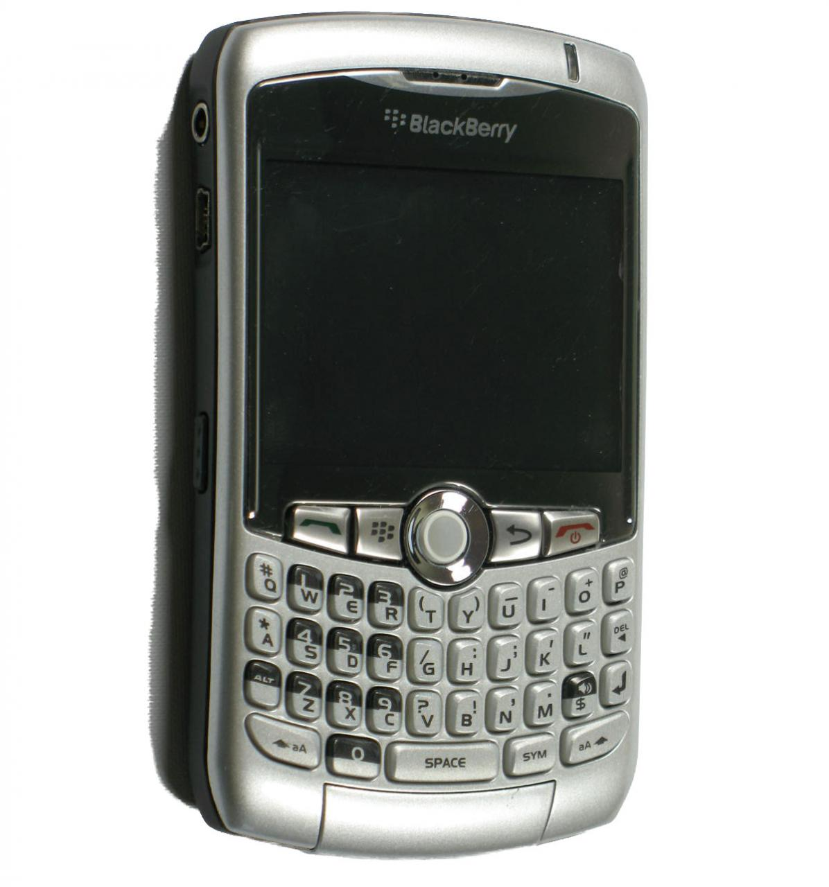 SILVER BLACKBERRY 8320 CURVE PDA CELL PHONE - Images ...