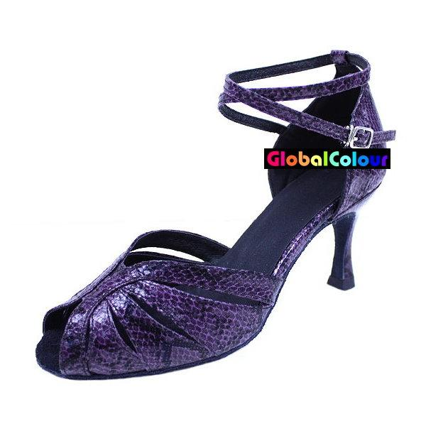 Purple Latin Dance Shoes