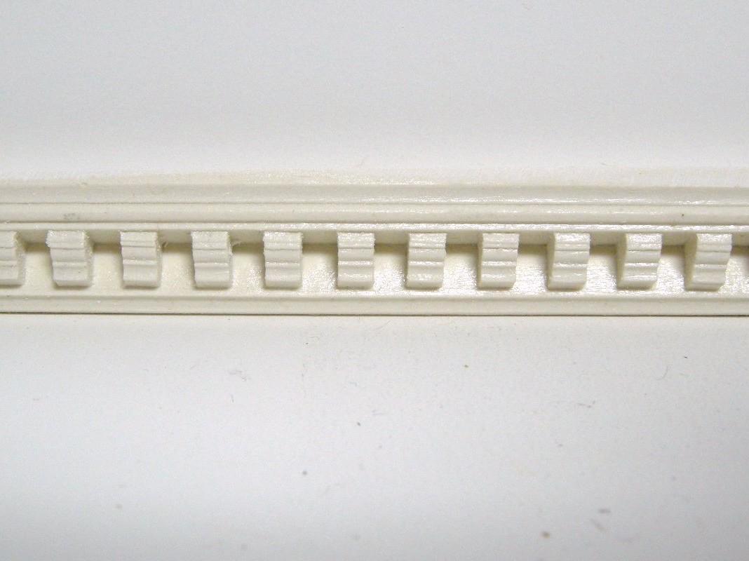 Cast Resin Classic Dentil Cornice Molding M25 Images