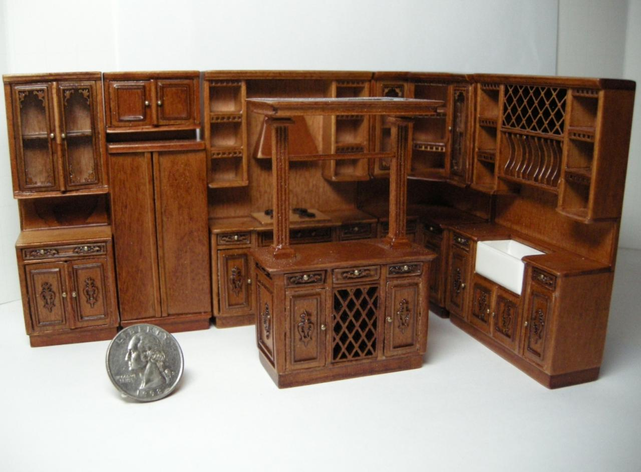 Dollhouse HALF SCALE Furniture 4803 Dish Unit - Images