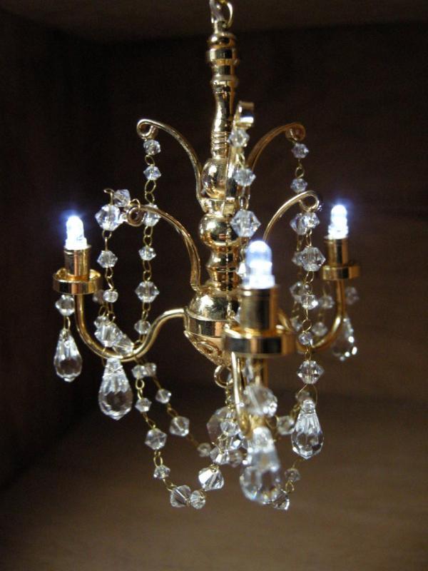 dollhouse battery operated led crystal chandelier lcr7782. Black Bedroom Furniture Sets. Home Design Ideas