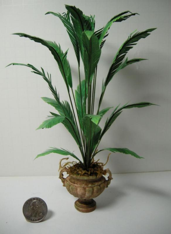 Dollhouse Miniature Potted Palm Plant 1005 Ebay