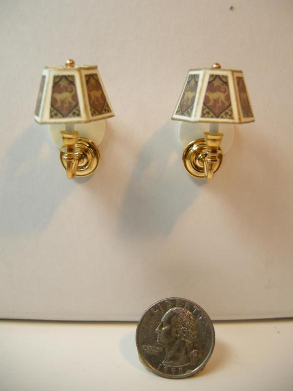 Decorative Electric Wall Sconces : Dollhouse Miniature Decorative Non-Electrical Wall Sconces ws103ne M
