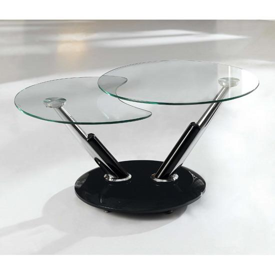 Twist Rotating Extending Glass Coffee Table Images Hosted At