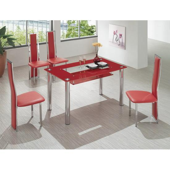 big compact glass dining table with 4 d231 chairs images hosted at