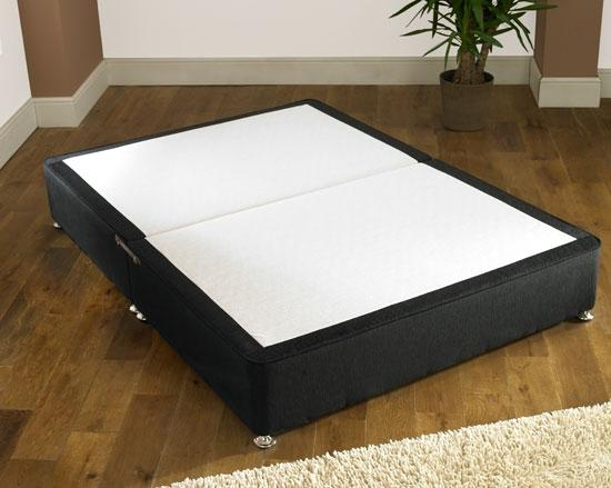 black chenille modern low double bed divan base only ebay
