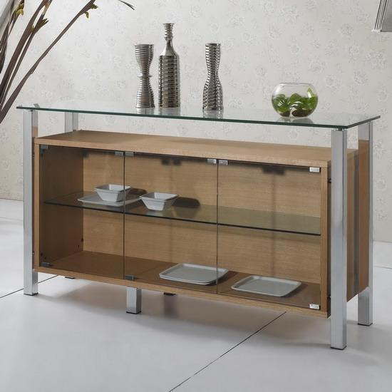 SBH Two-Door Sideboard with Glass-Shelf Hutch by Wynwood - Sheely