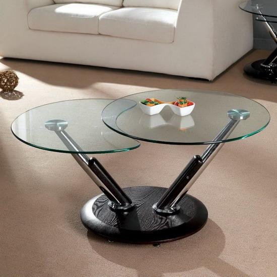 twist wenge extending rotating coffee table with glass images hosted at. Black Bedroom Furniture Sets. Home Design Ideas