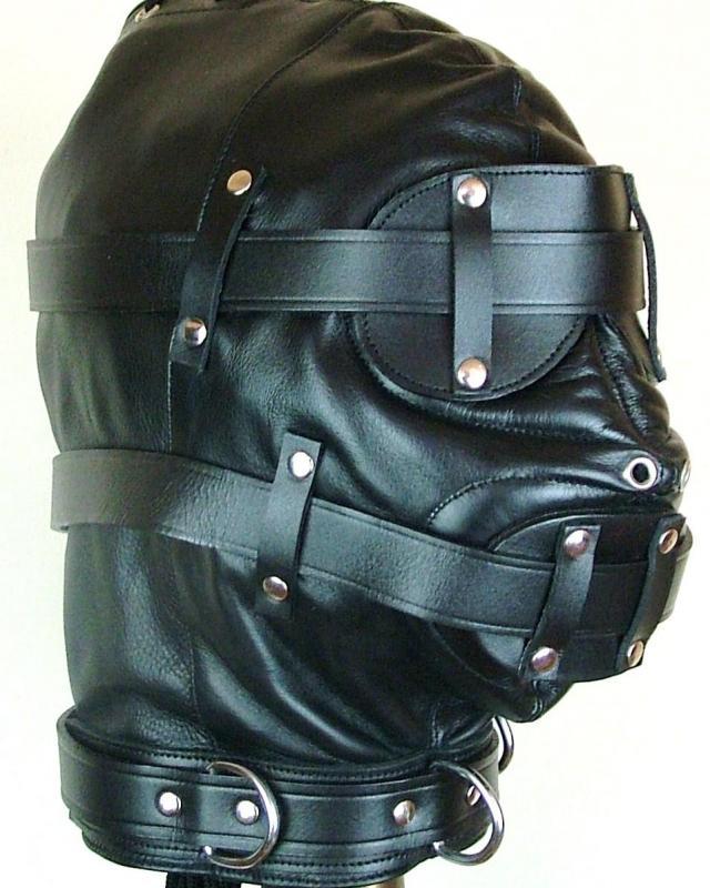 Custom Made Leather Bondage Hoods
