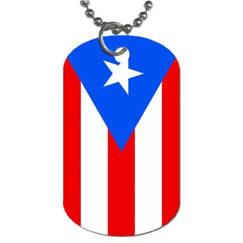 Puerto Rico Flag 2 Sided Dog Tag Necklace Puerto Rican