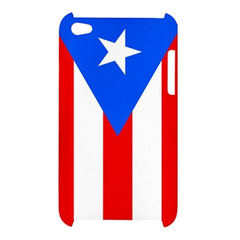 Puerto Rico Flag Hardshell Case for iPod Touch 4G Puerto Rican