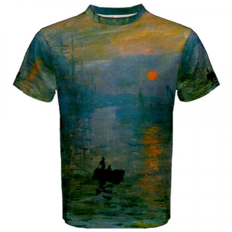 claude monet sunrise impression sublimated sublimation t shirt s m l xl 2xl 3xl ebay. Black Bedroom Furniture Sets. Home Design Ideas