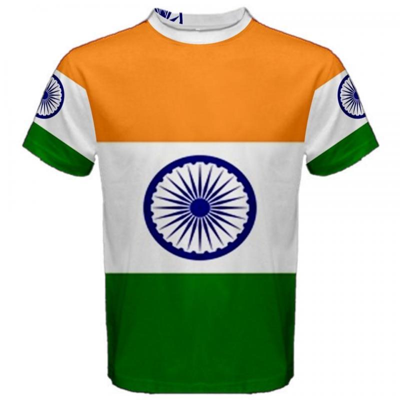 India Indian Flag Sublimated Sublimation T Shirt S M L Xl