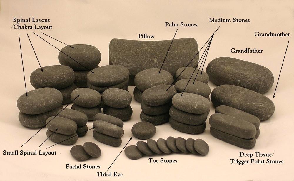 Massagemaster Hot Stone Massage Set 54 Basalt Stones For