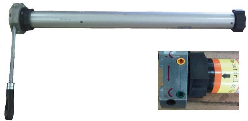Roller Garage Door Tubular Motor 100nm With Manual