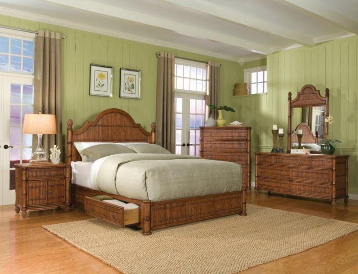 thomastown 4 pc queen rattan wicker bedroom set ebay