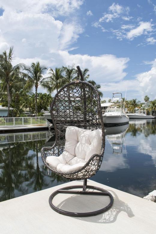 Panama Jack Hanging Chair W Metal Stand Cushions Ebay